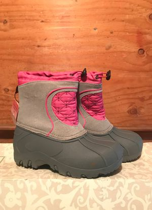 New NWT Kid Girls Sporto Winter Snow Boots Pink & Gray XL 6/7 youth for Sale in Snohomish, WA