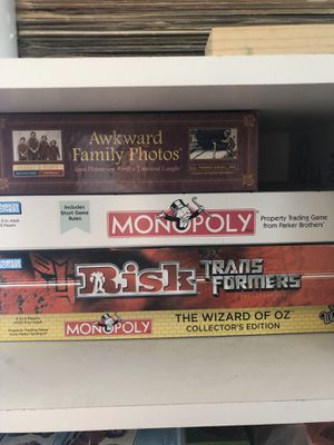 Monopoly, Risk, Wizard of Oz, Awkward Family Photo Games for Sale in Whittier, CA