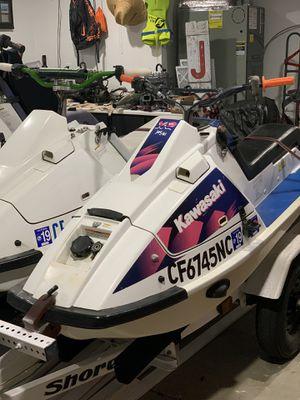 1990 & 1992 Kawasaki x2 / Jet Ski / Race Ski and FreeStyle Ski With Trailer for Sale in Bethel Island, CA