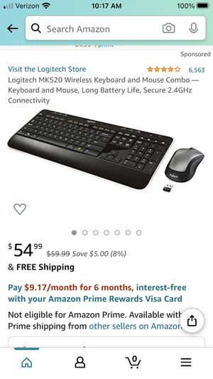 Logitech MK 520 wireless keyboard and mouse for Sale in Corona, CA