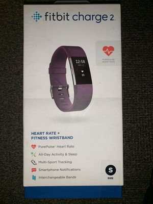 Fitbit Charge 2 Activity Tracker + Heart Rate Size small: color purple for Sale in Romeoville, IL