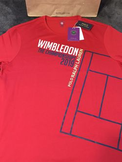 Ralph Lauren Polo Wimbledon Vintage 2019 Tee Size XXL Red for Sale in Dallas,  TX