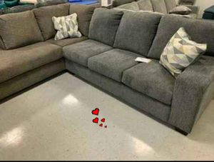 ♻️NEW♻️Hickory/Charcoal Laf/Raf Sectional for Sale in Jessup, MD