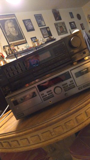 Sony receiver,jvc tape deck with 2 polk audio speakers!! for Sale in Williamstown, NJ