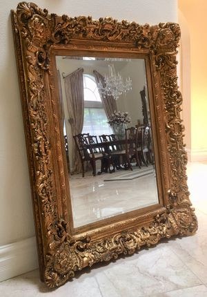 Gorgeous 50x38 Victorian style gold mirror for Sale in Laguna Niguel, CA