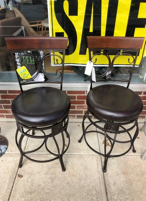 Powell big and tall counter stools set of two for Sale in Cherry Hill, NJ