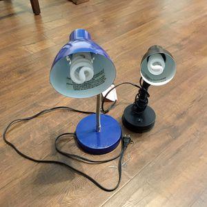 2 Desk Lamps- Bulbs included for Sale in Manassas, VA