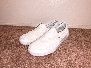 White slip on vans for Sale in Sacramento, CA