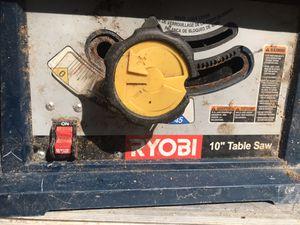 """RYOBI 10"""" table saw for Sale in Dover, NJ"""