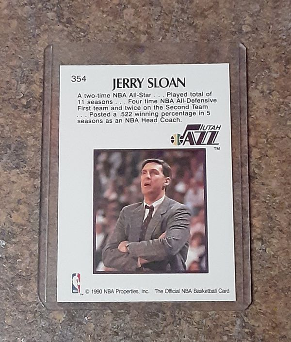 Vintage Jerry Sloan Chicago Bulls Player/Utah Jazz Coach Collector's Card