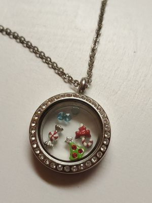 Living live locket with necklace and charms for Sale in Pamplin, VA