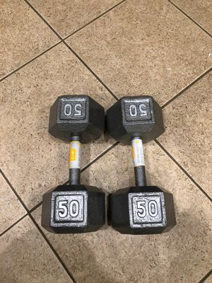 50lb dumbbells for Sale in Corona, CA