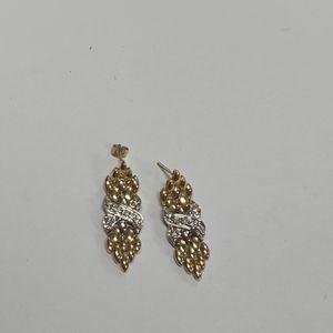 14k Gold Diamond Stud Earrings 8.1 Grams (GS) for Sale in Los Angeles, CA