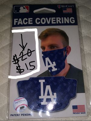 """LETS GO DODGERS SUPPORT YOUR TEAM"" BRAND NEW LOS ANGELES DODGERS UNISEX FACE MASK OFFICIALLY LICENSED WASHABLE REUSABLE OSFM. for Sale in Hazard, CA"