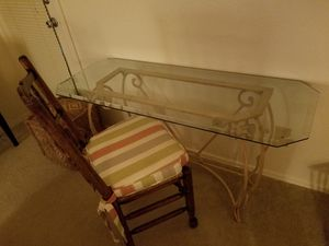 Glass Desk & Chair for Sale in Scottsdale, AZ