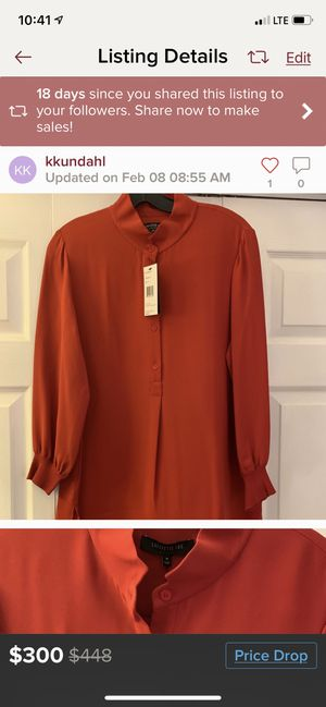 Layfayette Tunic Silk Blouse for Sale in Hartford, CT