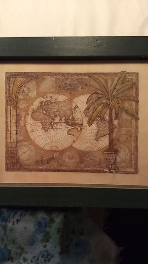 Framed world maps for Sale in Bethel, CT