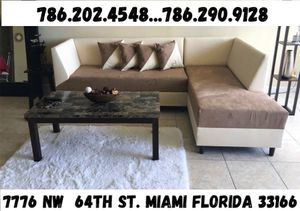 New sectional couch two tone never used for Sale in Hialeah, FL