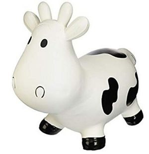 Trumpette Howdy Cow Kids Inflatable Bouncy Rubber Hopper Ride-On Toy White for Sale in Tampa, FL
