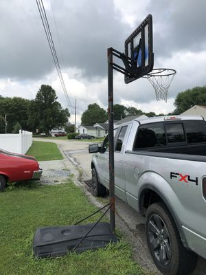 Basketball hoop, pole and stand for Sale in Scottdale, PA