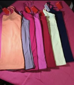7- Forever 21 basic top camis All for $35 ALL SIZE LARGE Orange, Light brown , hot pink, pink, yellow and dark blue Pick up in Mebane NC for Sale in Mebane, NC