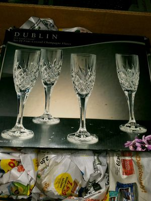 Crystal Champagne Flutes for Sale in Poseyville, IN