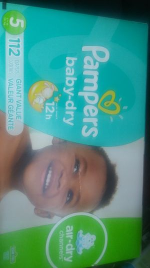 Pampers size 5 112 diapers for Sale in Portland, OR