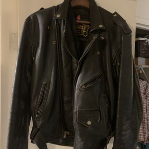Leather Motorcycle Jacket With Lacing Kidney Support for Sale in Seattle, WA