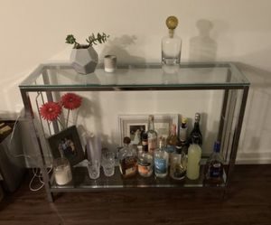 Glass console table/entry table/ buffet/ credenza/ bar cart for Sale in Long Beach, CA