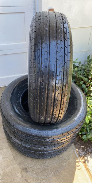 3 matching semi new trailer tires st 225/75/15 for Sale in Dixon, CA
