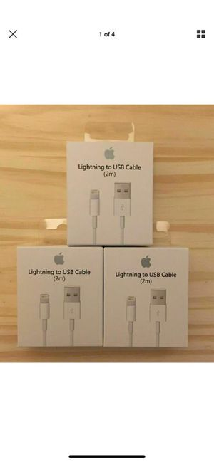3packs For iPhone 6/6s/7/8/X /Xr/11/11pro Lightning USB Cable Charger 2M Brand Guarantee✅BEWARE of Fakes✅Top USA Seller 🏆iphone for Sale in Phoenix, AZ