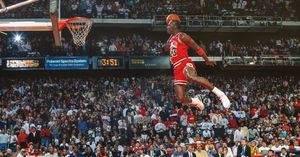 Michael jordan air dunk foul line 24x40 poster big size for Sale in Alhambra, CA