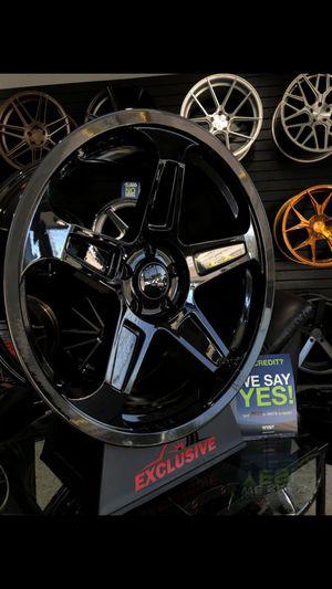 20x9 et20 and 20x10.5 et25 5x115 dodge demon style wheels fits mopar dodge chrysler charger challenger 300 magnum wheels rims tires for Sale in Tempe, AZ