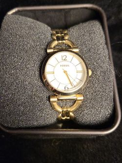 Women's Fossil Gold Chain Link Watch for Sale in Milwaukie,  OR