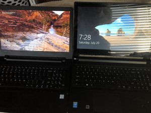 "MUST GO. 2 Lenovo Laptops. Taking best offer. ""Ideapad110"" and ""Flex 2"" for Sale in Clifton, VA"