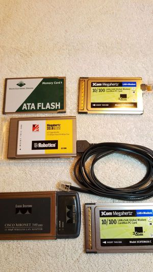 Cardbus PC Card Modem LAN Ethernet Wireless for Sale in Coral Springs, FL