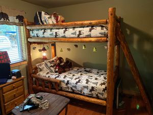 Twin log bunk beds for Sale in Ronald, WA