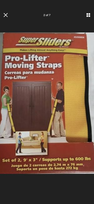 Super Sliders Pro-Lifters Moving Straps for Sale in Phoenix, AZ
