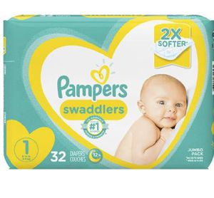 Pampers Diapers Size 1 - 32 Diapers Each Pack for Sale in San Jose, CA