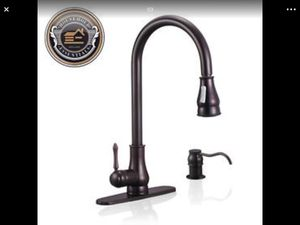 "18"" Oil Rubbed Bronze Pull Down Kitchen Sink Faucet w/ Soap Dispenser..... CHECK OUT MY PAGE FOR MORE ITEMS for Sale in Baltimore, MD"