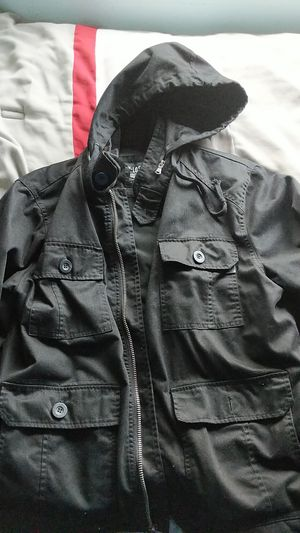 Lightly used jackets, Levi's jeans, Roll top Backpack for Sale in Moreno Valley, CA