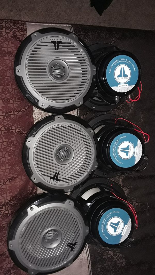 6 jl audio 8.8 speakers for car or boat, they all work.