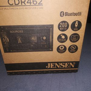 Jensen 6.2 Dvd Bluetooth Cd Player. for Sale in East Hartford, CT
