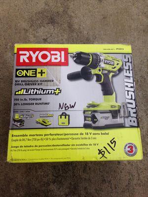 Ryobi 18v hammer drill kit for Sale in Los Angeles, CA