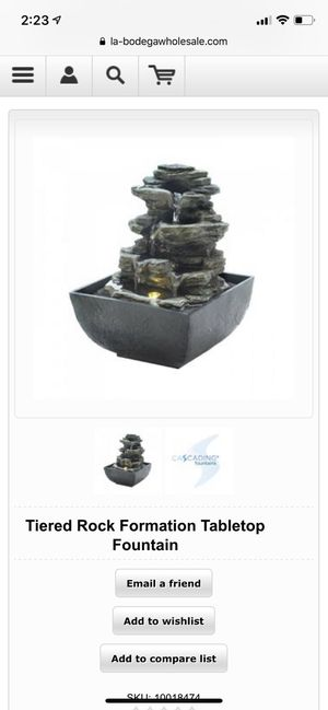 Tiered Rock Formation Tabletop Fountain for Sale in New York, NY