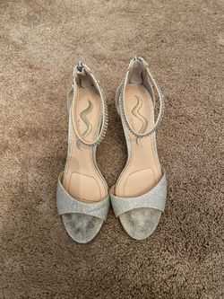 Silver heels: size 7 for Sale in Normal,  IL
