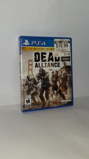 Dead Alliance Day One Edition [PS4 Game] for Sale in Selma, NC