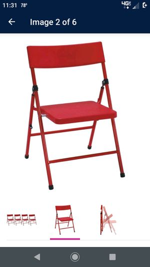 Red Kids Folding Chairs (4 pack) for Sale in Virginia Beach, VA