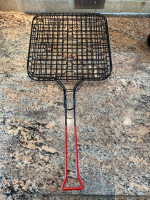 BBQ tool- Hamburger grill basket with locking handle for Sale in Virginia Beach, VA