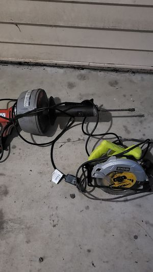 K-45 drain cleaner and a ryobi table saw for sale for Sale in Hampton, VA